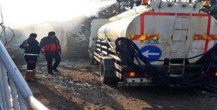 Sungurlu'da samanlık yangını