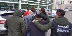 Samsun'da uyuşturucu suçundan aranan 13 şahıs gözaltında