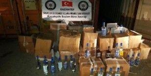 Gaziantep'te 610 şişe sahte alkol ele geçirildi