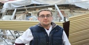 Esnaf, Sakarya'da binanın çöktüğü korku dolu anları anlattı