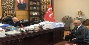 Başkan Ergün MHP Genel Başkanı Bahçeli'ye projelerini sundu