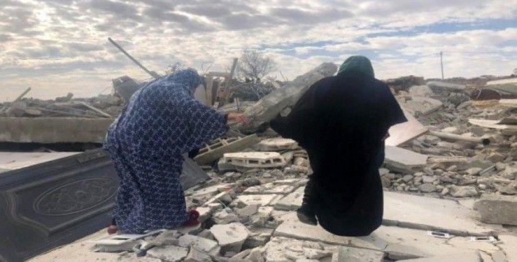 İsrail güçleri Filistinli ailenin evini ikinci kez yıktı