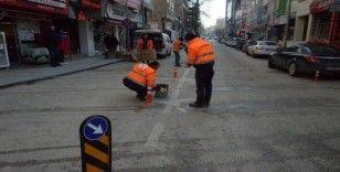 Trafik akışını kolaylaştırmak için duba çalışması