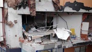 Doğalgaz patlamasının yol açtığı hasar drone ile görüntülendi