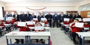 Boğaz Şehit Murat Ateş Ortaokulunda karne töreni düzenlendi