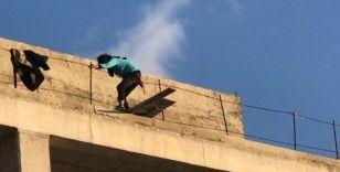 Bursa'da intihara kalkışan bir kişi polis tarafından kurtarıldı