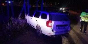 Otomobil elektrik trafosuna çarptı: 1 yaralı