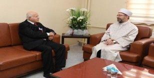 Diyanet İşleri Başkanı Erbaş'dan Cem Vakfı Genel Başkanı Doğan'a taziye ziyareti