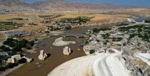 (ÖZEL) Hasankeyf'te sular yükselmeye başladı