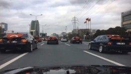 İstanbul'da asker uğurlama konvoyunda drift terörü