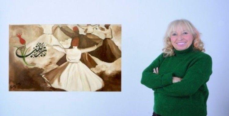 Ressam Pervin Özen'in sergisinin geliri şehit ailelerine bağışlanacak