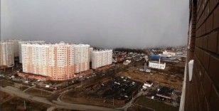 Rusya'da kar fırtınası görüntülendi