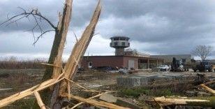Sinop'ta Havalimanı bölgesine yıldırım düştü