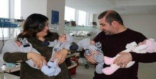 (Özel) 6 yıldır evlat hasreti çeken ailenin dördüz sevinci