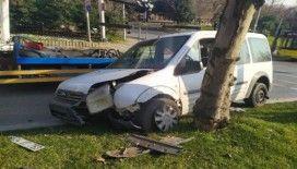 Beşiktaş'ta kırmızı ışık ihlali kazaya neden oldu
