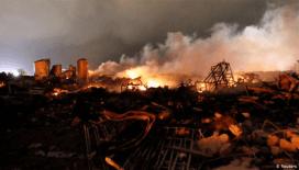 ABD'de fabrikada şiddetli patlama