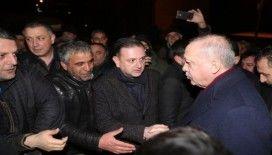 Cumhurbaşkanı Erdoğan, inceleme yaparken bir deprem daha oldu