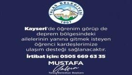 Talas Belediyesi deprem bölgesine gitmek isteyen öğrencilere ulaşım desteği verecek