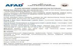 Kırklareli AFAD'dan Elazığ için yardım kampanyası