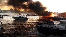 Kartal'da marinada 6 tekne alev alev yandı