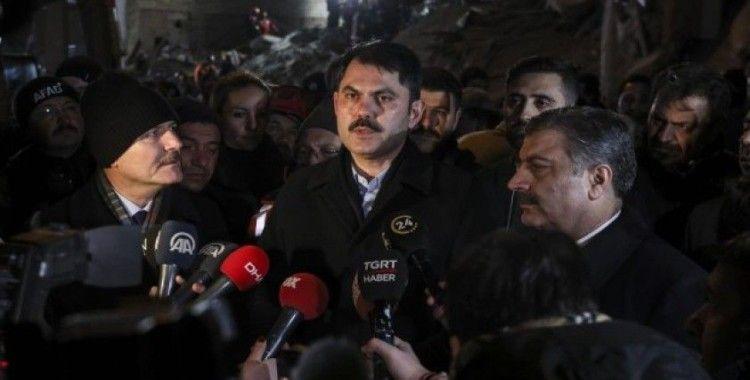 Çevre ve Şehircilik Bakanı Kurum: 19 yıkık, 107 ağır hasarlı, 37 orta hasarlı, 171 de az hasarlı bina tespit ettik