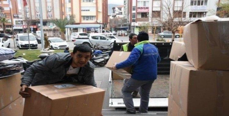 Edremit Belediyesi'nin yardım kampanyasına büyük destek