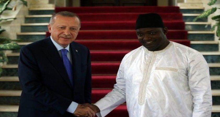 Cumhurbaşkanı Erdoğan, Gambiya Cumhurbaşkanı Adama Barrow ile görüştü