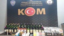 Balıkesir'de polisten kaçak tütün ve içki operasyonu