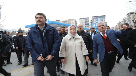 Bakan Kurum Malatya'da incelemelerde bulundu
