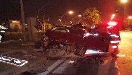 Tarsus'ta trafik kazası: 2 yaralı