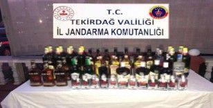 Jandarmadan kaçak içki baskını