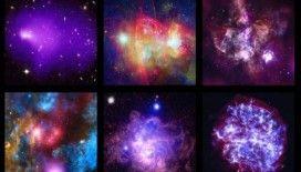 Chandra Teleskobu, çarpışarak birleşen galaksi öbeklerini kayda aldı