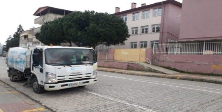 Canik Belediyesinden okullarda temizlik