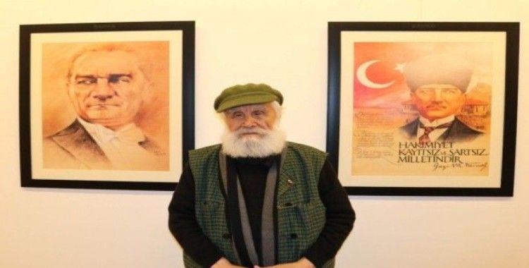 """Etem Çalışkan'ın """"Atatürk portreleri"""" sergisi"""