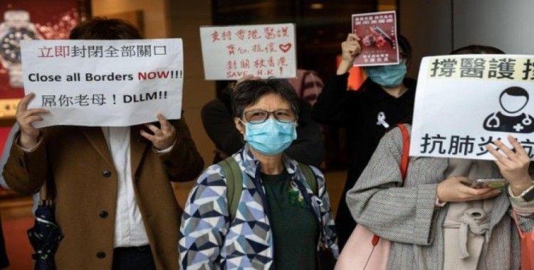 Hong Kong'ta sağlık çalışanlarından korona virüsü grevi