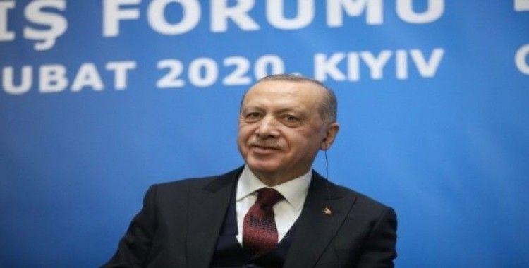 Cumhurbaşkanı Erdoğan: 'Ukrayna ile sahip olduğumuz sağlam siyasi zemin her iki ülke iş çevreleri için de önemli bir güvencedir'