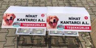 Sokak hayvanları için aşevleri yapıldı