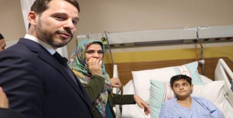 Depremden yaralı kurtulan Kerim, Cumhurbaşkanı Erdoğan'la görüştü