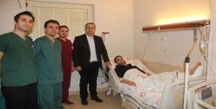 Elazığ'da göçük altında kalarak yaralanan depremzede Isparta'da ameliyat oldu