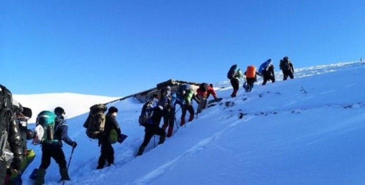 Zigana Dağı'nda -15 derecede kış eğitimi