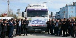 Karaman'dan Elazığ'a yardım tırı yola çıktı