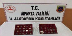 Isparta'da Osmanlı ve Bizans Dönemine ait 44 parça tarihi eser ele geçirildi: 2 gözaltı