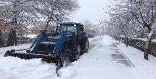 Bozdağ'da kar kalınlığı 30 santimetreyi geçti