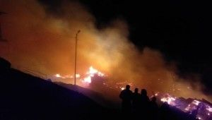 Erzurum'da feci yangın