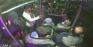 Baygınlık geçiren kadın otobüsle hastaneye yetiştirildi