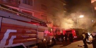 Karacabey'de korkutan yangın