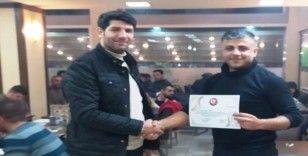 AFAD Diyarbakır ekibine teşekkür belgesi