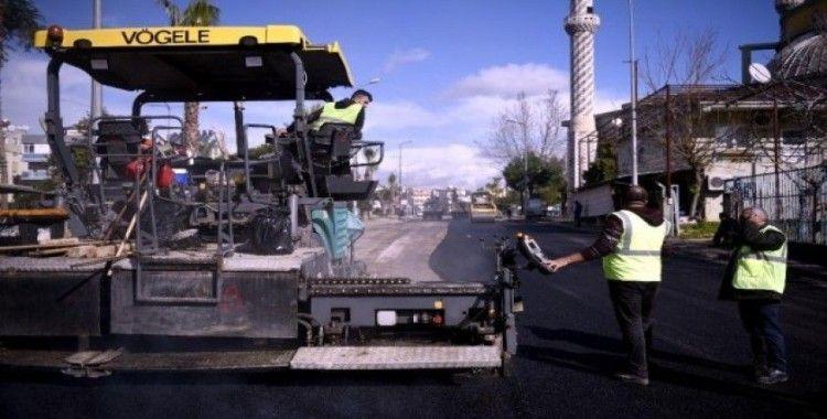 Şafak mahallesinde asfalt yenileme çalışşması