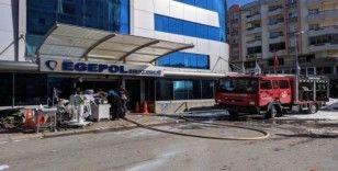 Paniğe yol açan hastane yangını söndürüldü