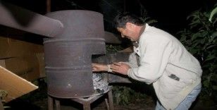 Fethiye'de sera üreticisinin sobalı don nöbeti